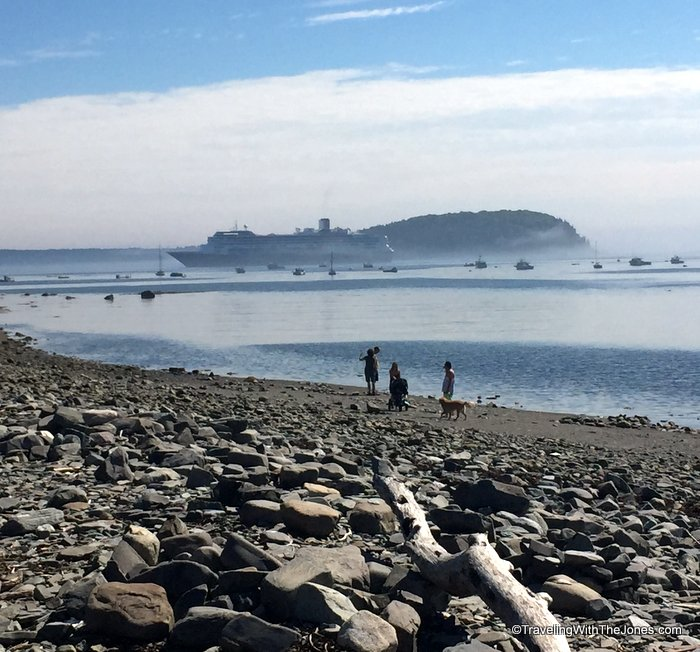 Walking To Bar Island During Low Tide While Visiting Bar Harbor Maine